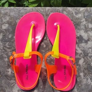2 FOR 1 SANDALS BLUE PINK SPRING SIZE 6